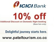 Patel Tourism - Flat 10% off on your flight booking